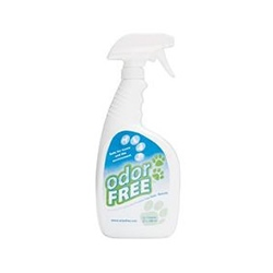 The unique environmentally-friendly ingredients in Odor Free™ work on pet and other odors indoors and outdoors, leaving everything smelling fresh for a long time.