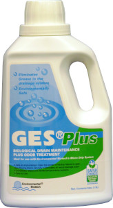 GES Plus uses live vegetative bacteria to digest fats, oils, and grease in drain lines.