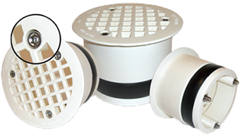 EnviroLogik's Lock Down Strainers prevent solids from clogging drain lines.