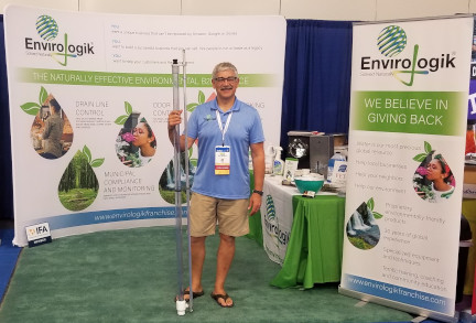Ron Bender at the Envirologik booth in Miami