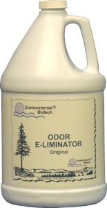Odor E-liminator™ is a concentrated odor counteraction product, proven to eliminate even the strongest odors from restrooms, smoke, dumpsters, vomit, garbage, grease traps, septic systems, and more.